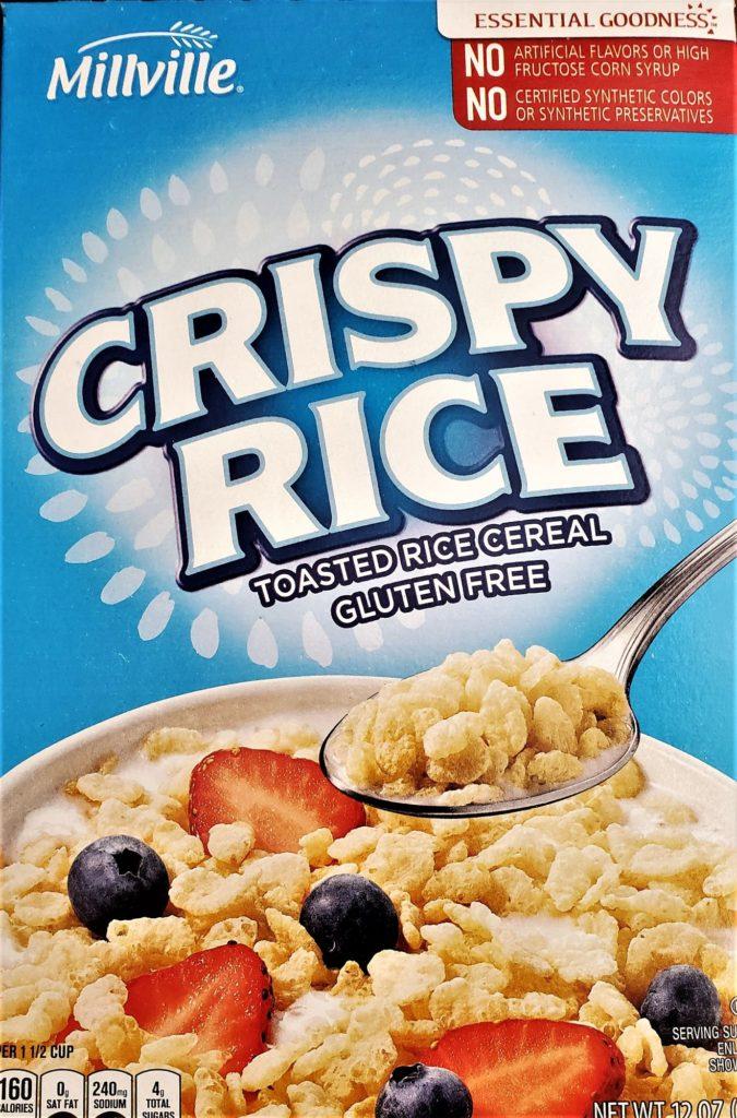gluten free crispy rice cereal