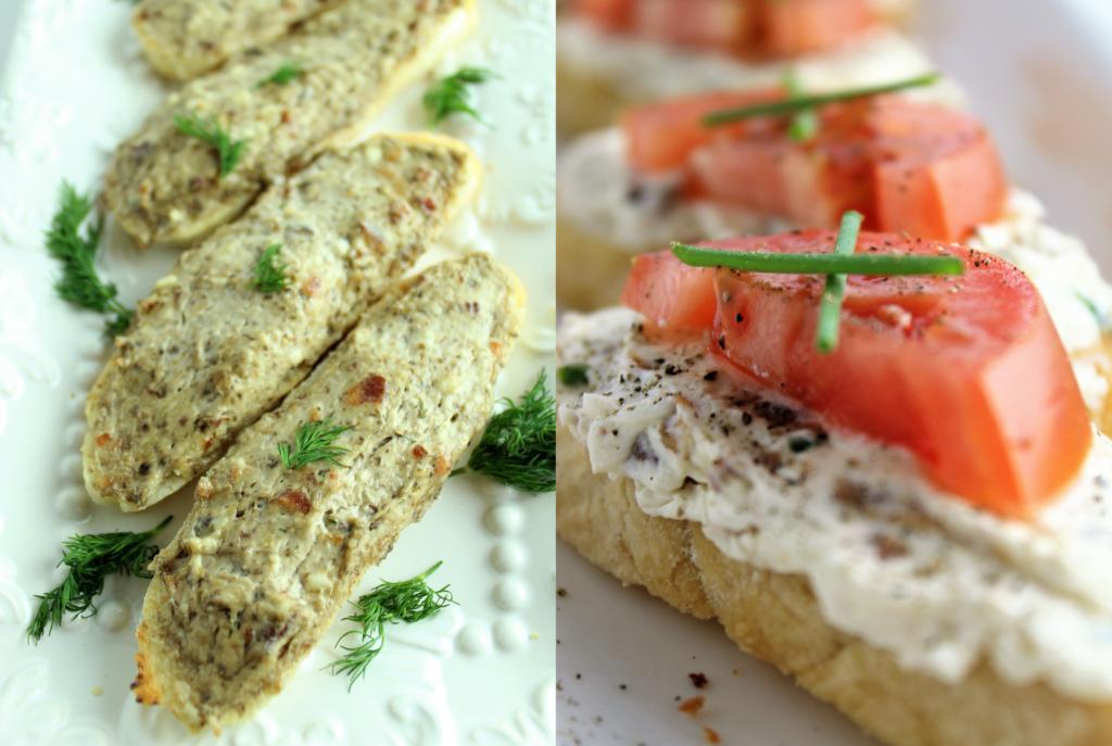 gluten free crostini two ways