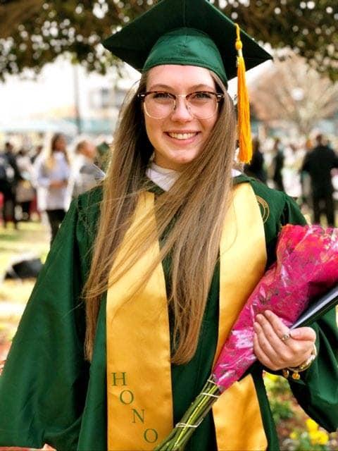 Bre's graduation picture