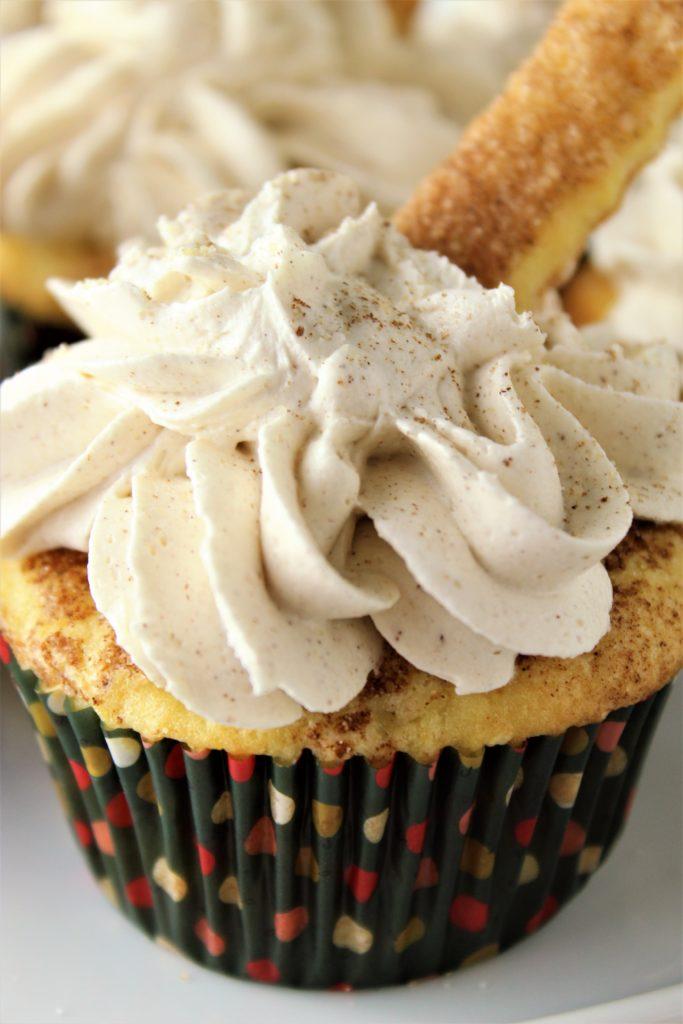 gluten free churro cupcakes