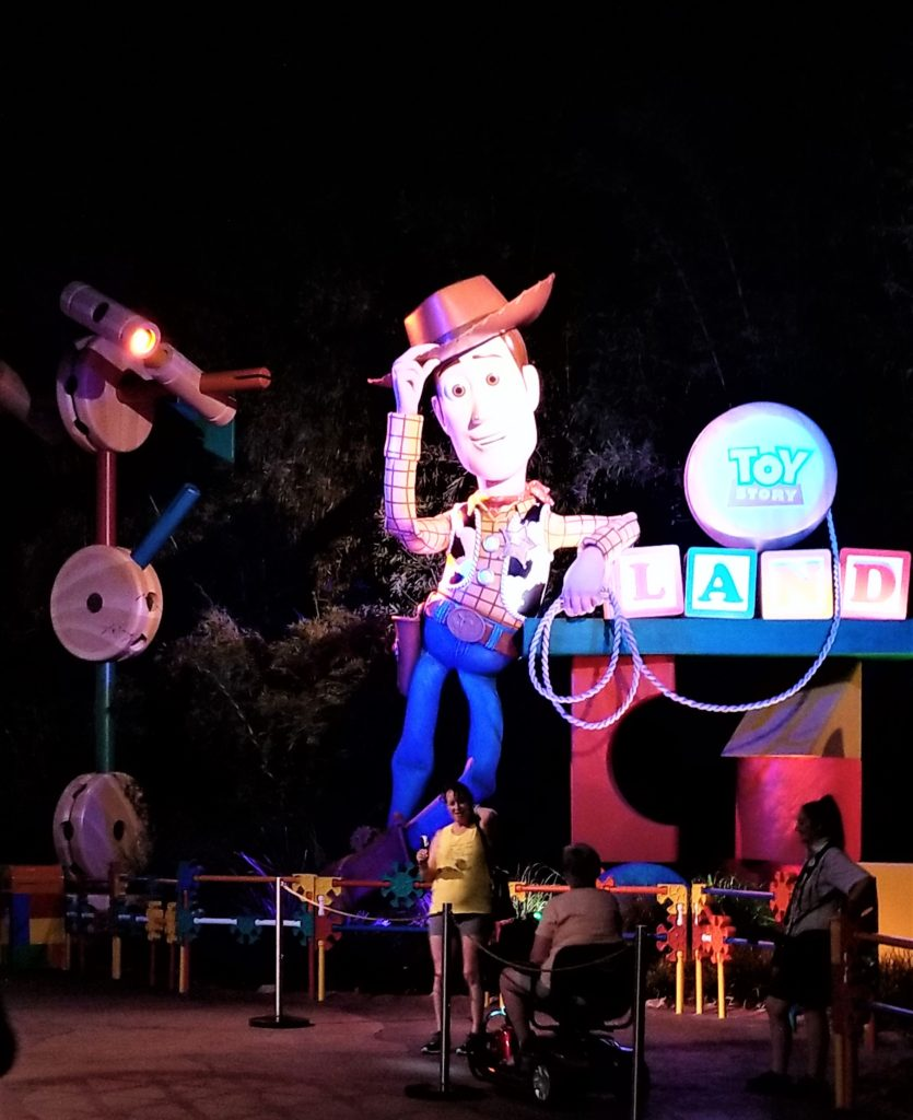 woody at disney's toy story land