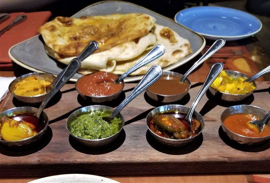 naan dipping sauces at sanaa at disney world