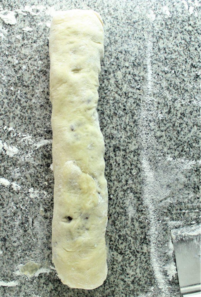 gluten free chocolate babka rolled up