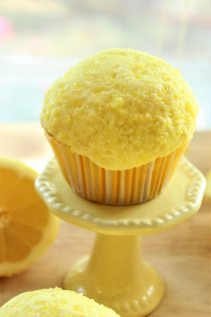 gluten free lemon drop cupcakes