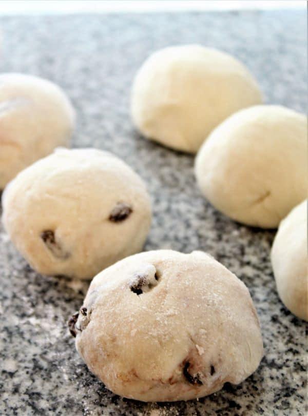balls of homemade gluten free bagel dough