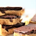 peanut butter bars stacked