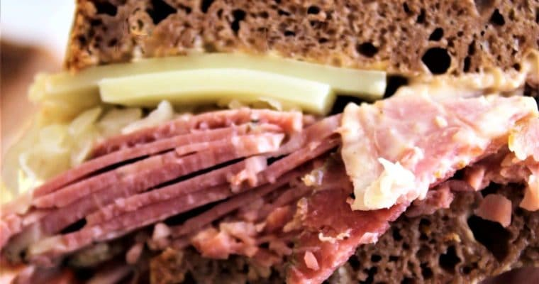 Gluten Free Mock Rye Bread & Reuben Sandwich