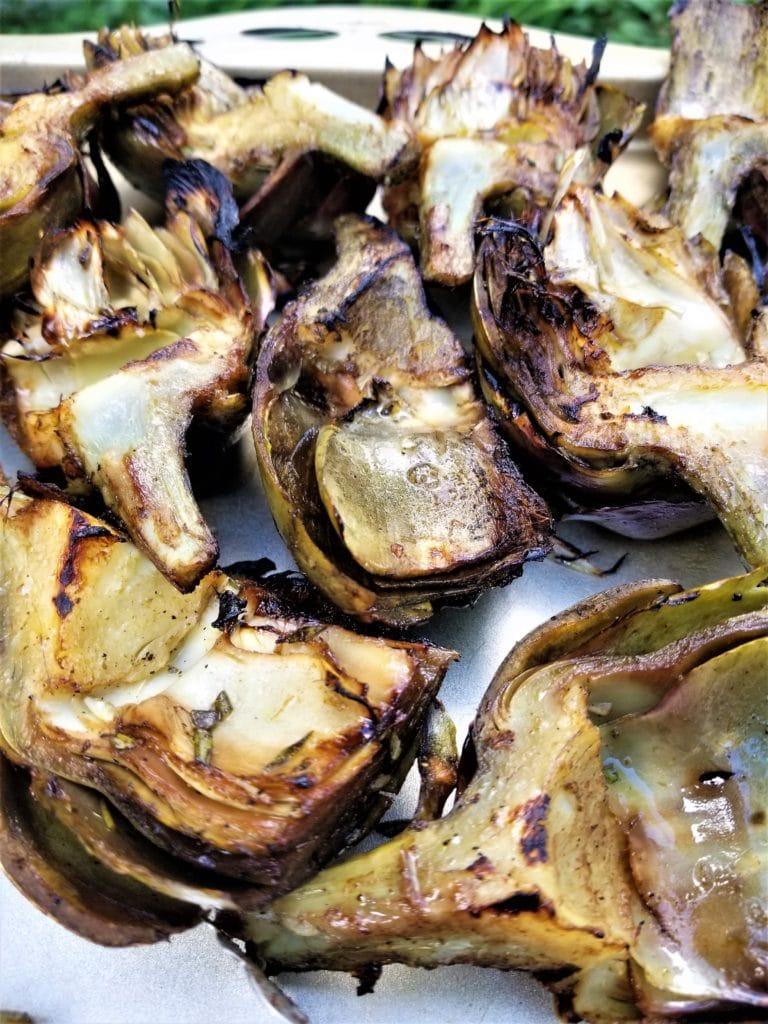 fire roasted artichokes