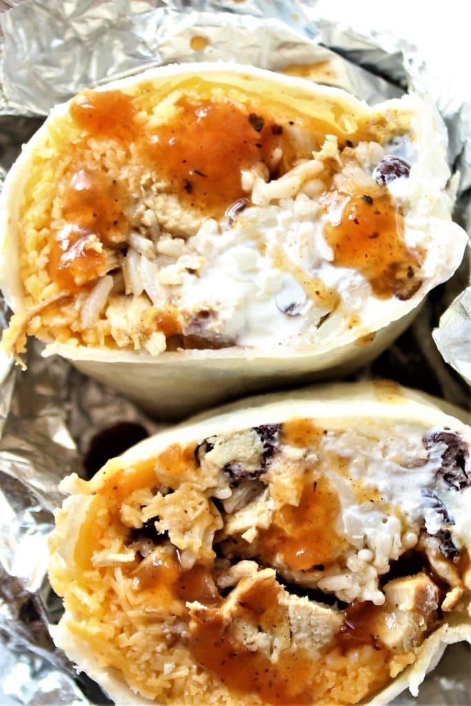 gluten free chicken burrito