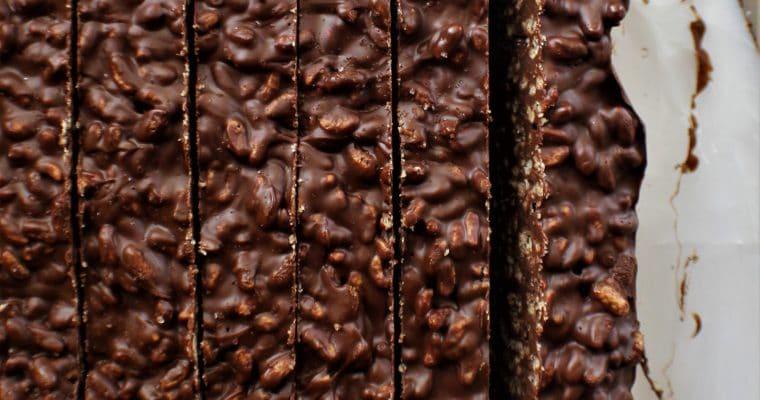 Gluten Free Chocolate Crunch Bars (No Bake)