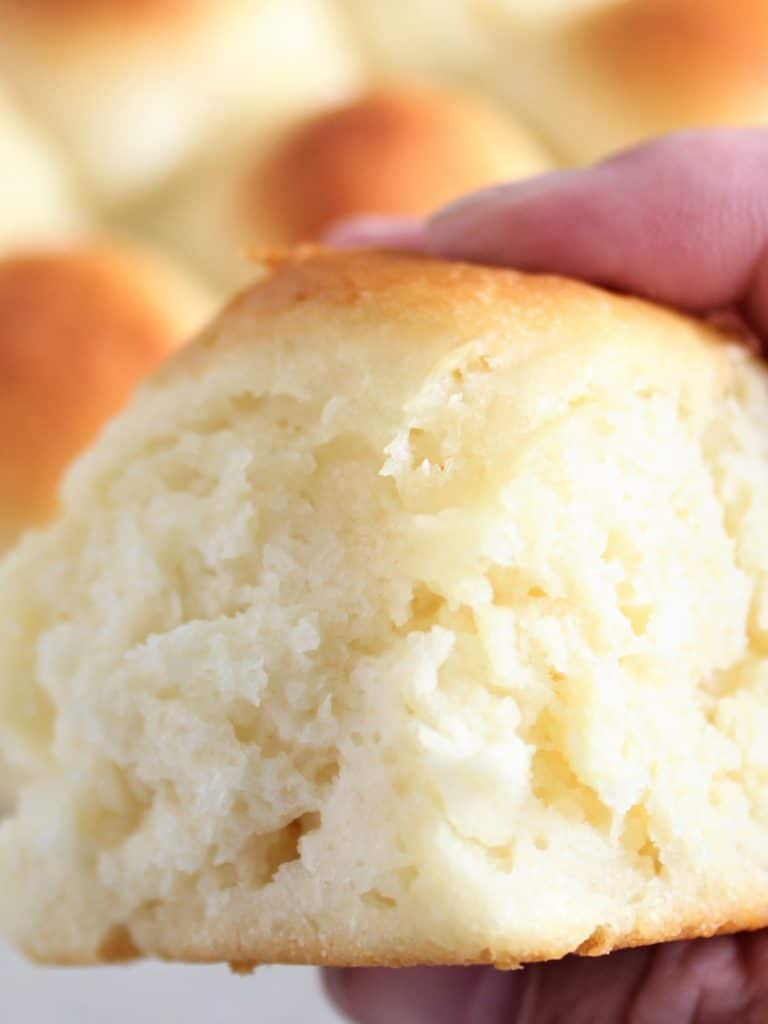 up close of gluten free roll