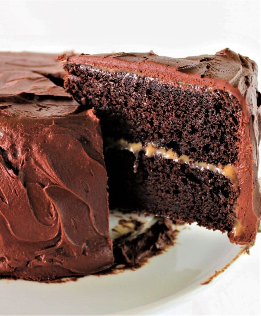 gluten free chocolate caramel cake