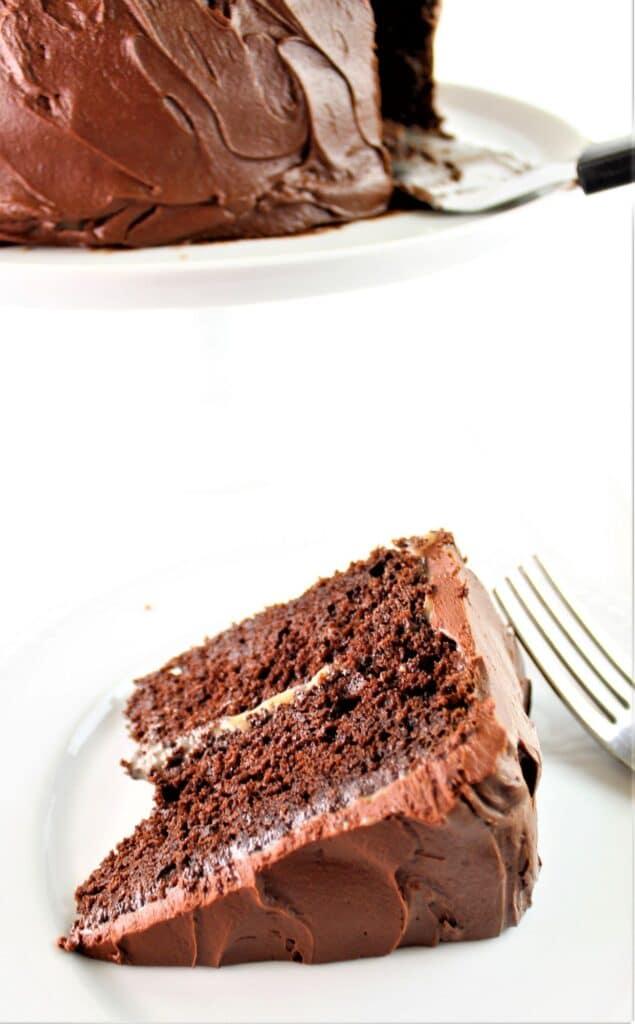 slice of gluten free chocolate cake