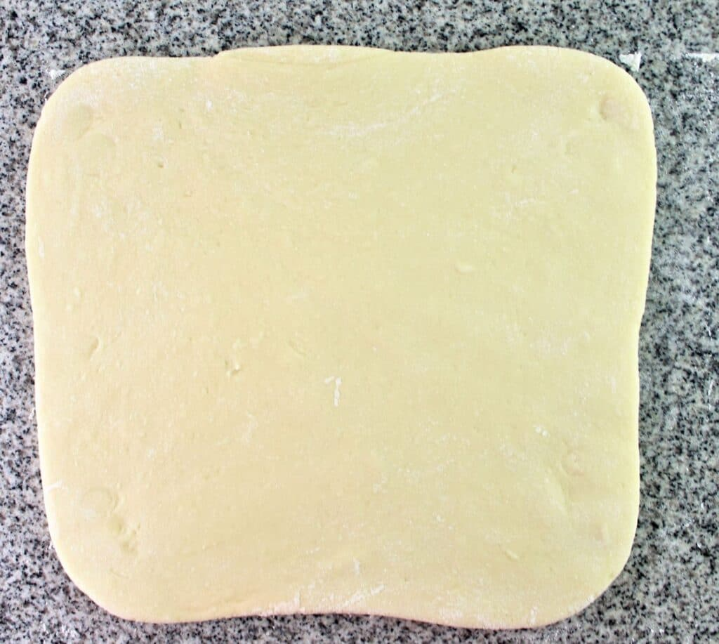 dough rolled out into rectangle