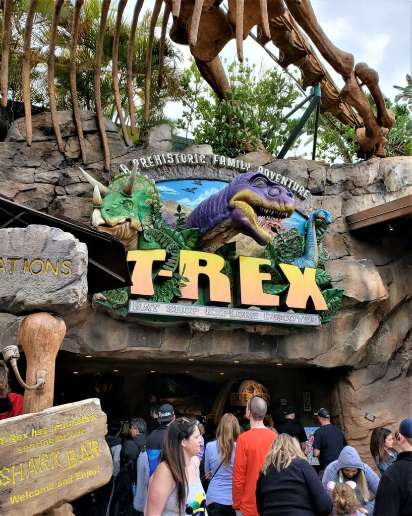 t rex sign outside the front