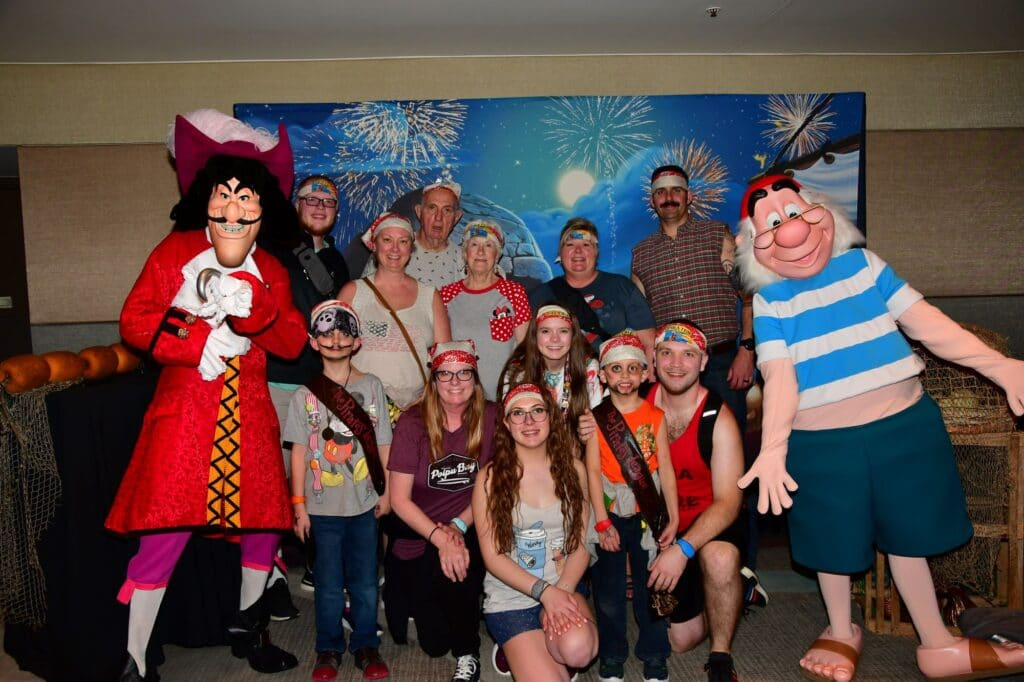 pirates and pals with captain hook and mr smee