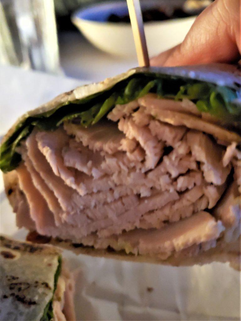 gluten free oven roasted turkey wrap