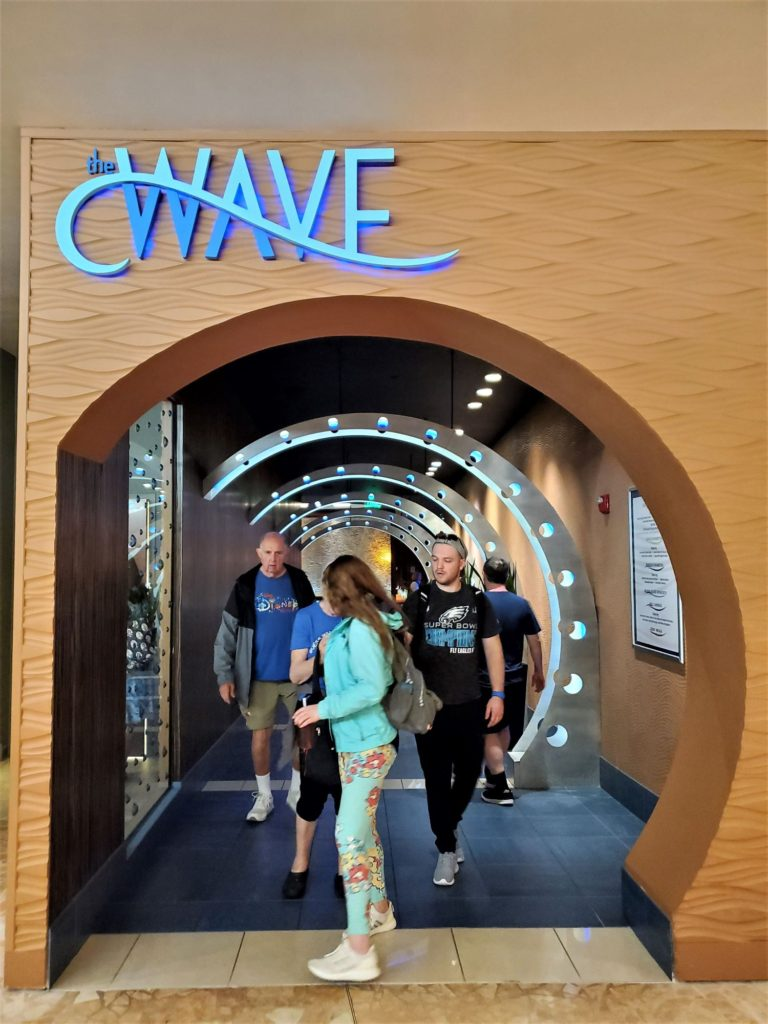 the entrance to the wave of american flavors