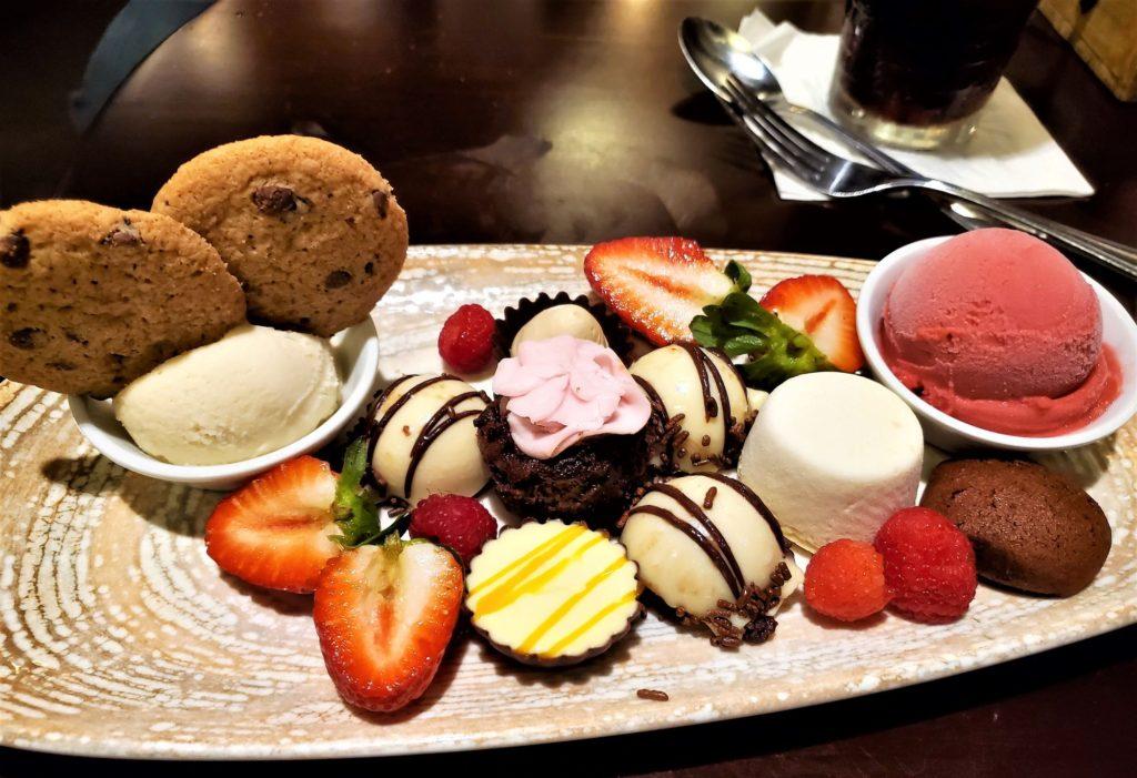 gluten free dessert platter at boma