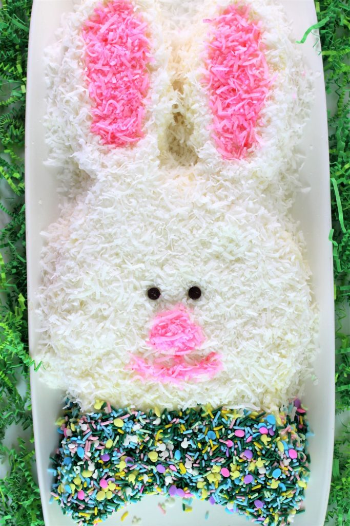 gluten free Easter bunny coconut cake