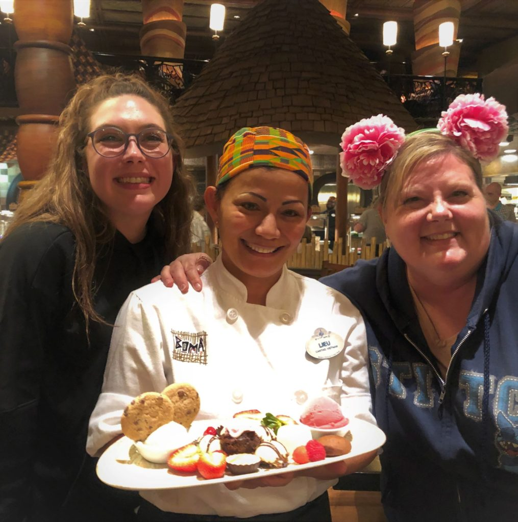 sissy and I with chef Lieu at boma