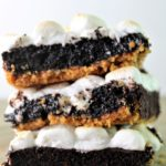 stacked gluten free smores brownies