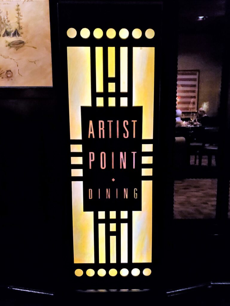 artist point sign at Wilderness Lodge