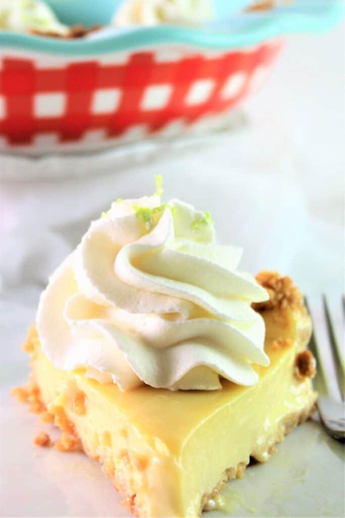 piece of gluten free pie on white plate