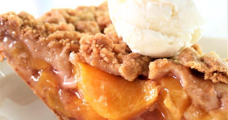 Gluten Free Peach Crumb Pie