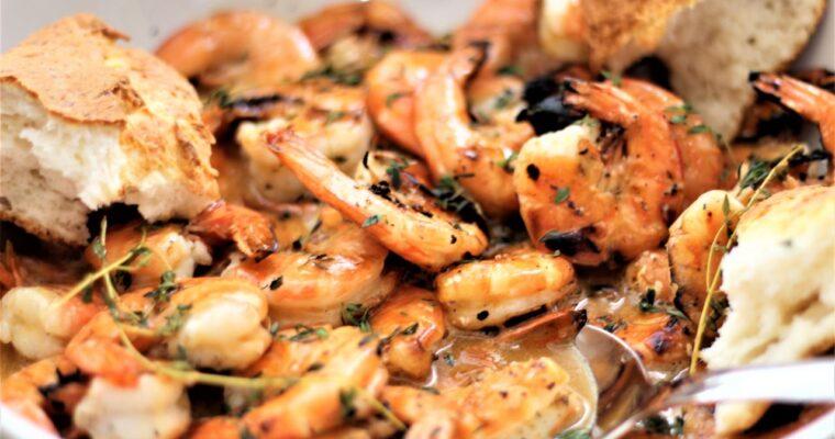 Amazing Grilled Lemon Butter Shrimp