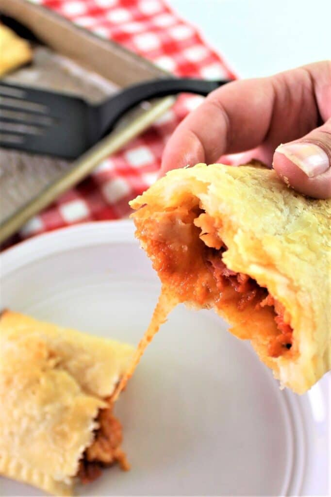 gluten free pizza hot pockets with cheese pull