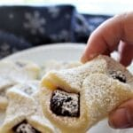 hand held bow tie cookie