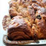 gluten free panettone babka in loaf pan