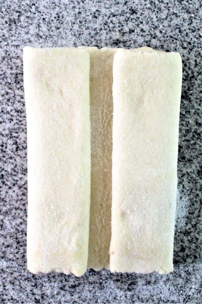 folding the sides of the pastry in