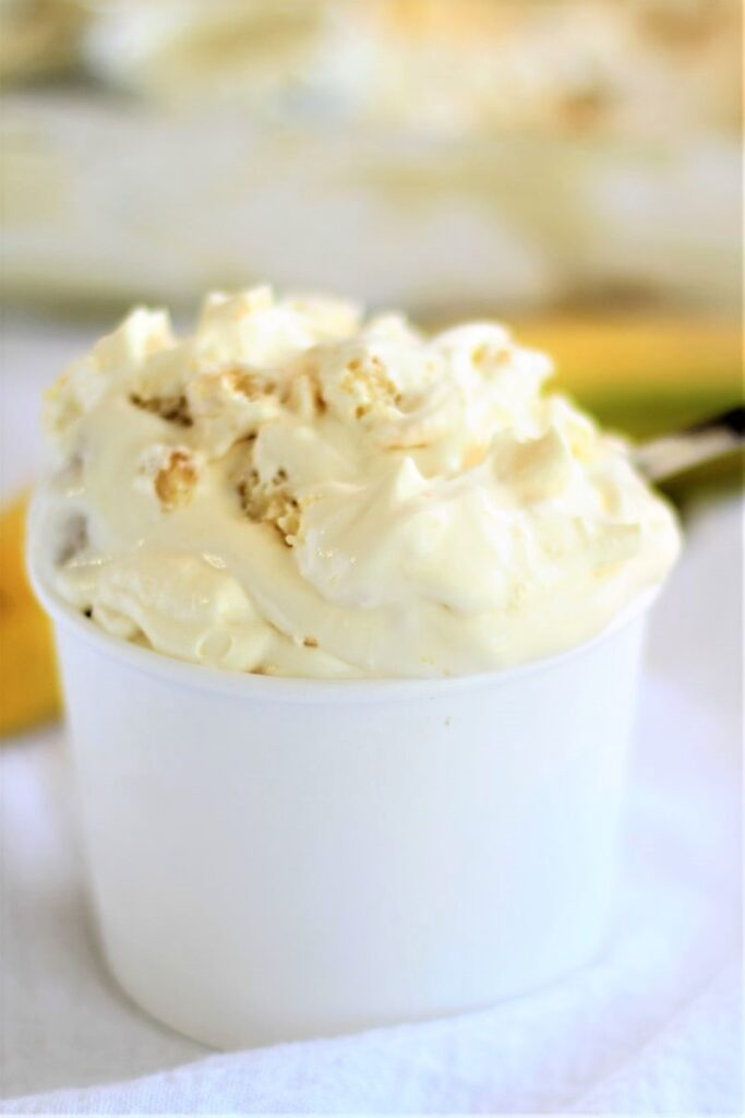 magnolia bakery gluten free banana pudding in white container