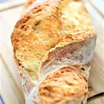 gluten free artisan bread on cutting board