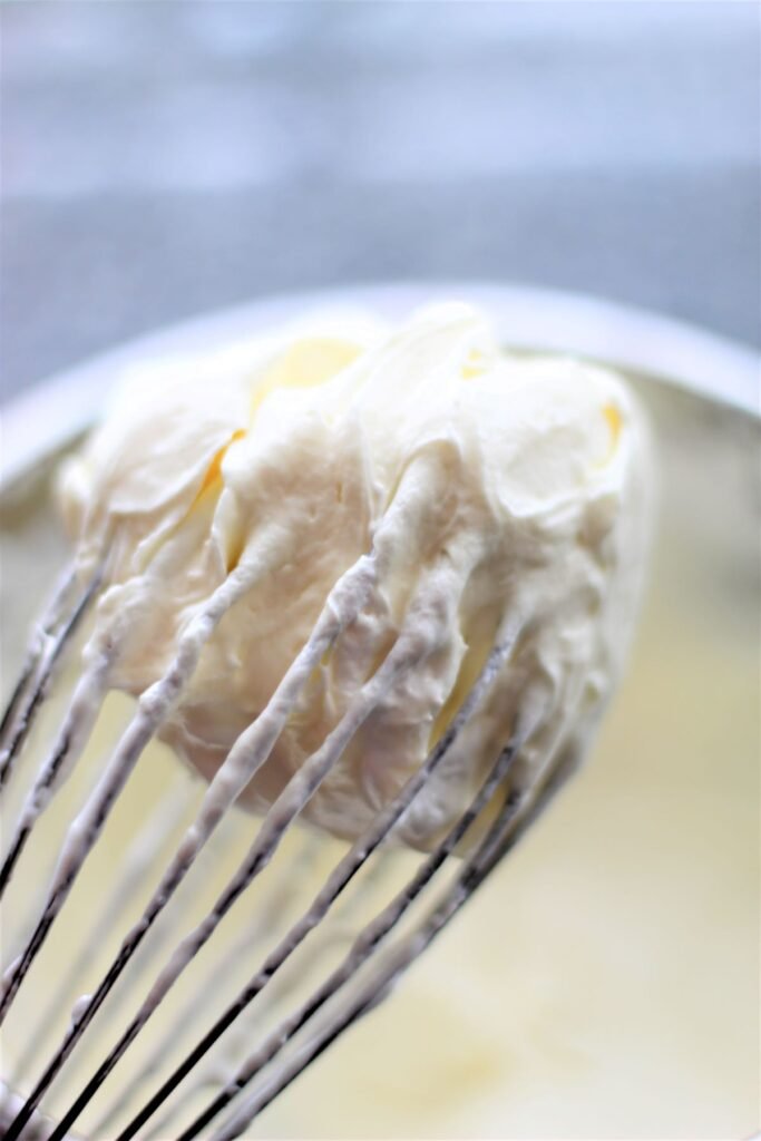 whipping cream cheese with wire whisk